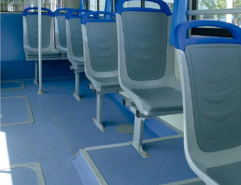 Butacas Magnes grisas en un autobus