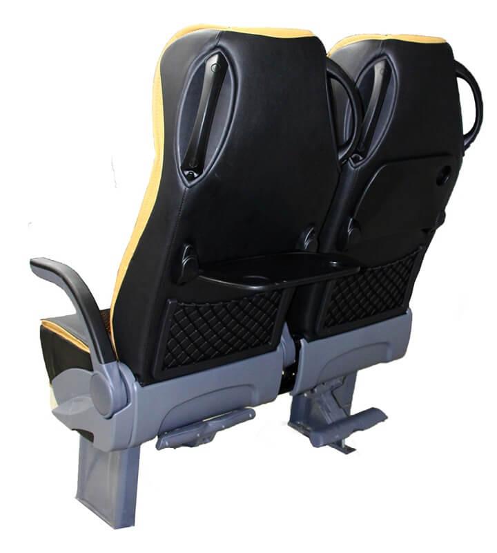 Butaca Agile 4540 diseño negro y amarillo vista trasera