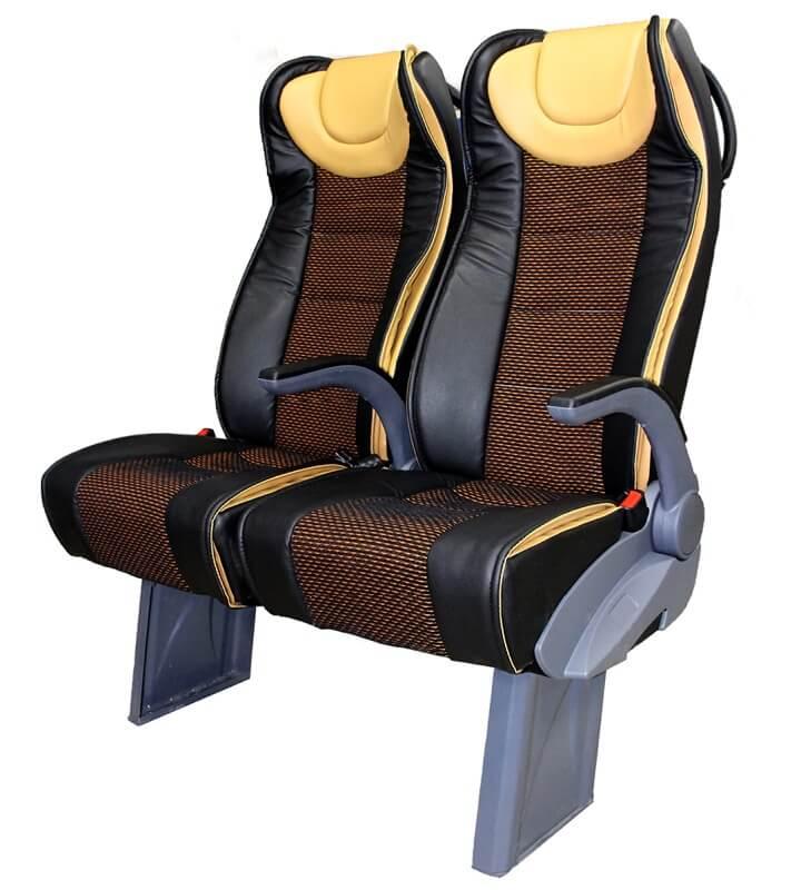 Butaca Agile 4540 diseño negro y amarillo vista delantera