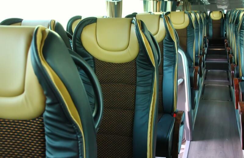 Fila de butacas agiel 4540 aplicadas a un autobús