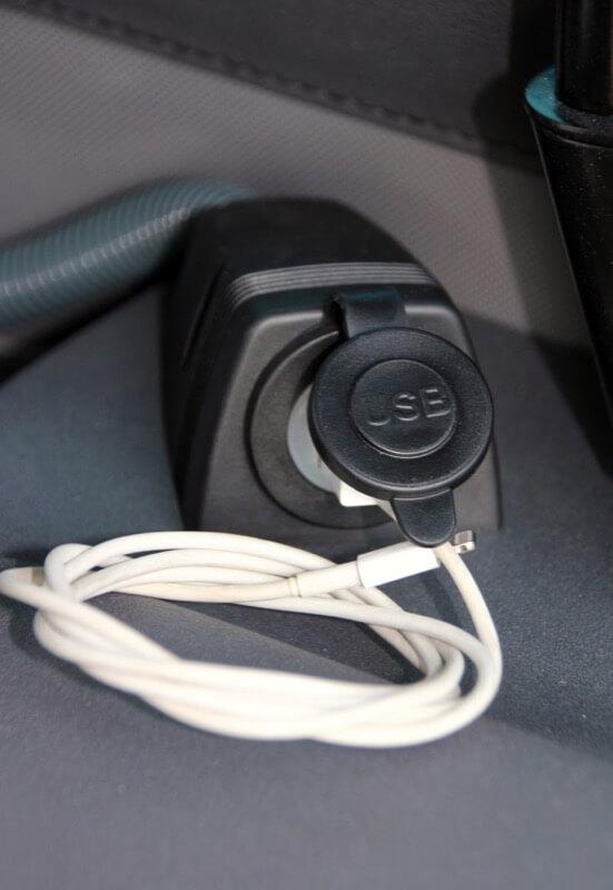 Detalle de conexión USB