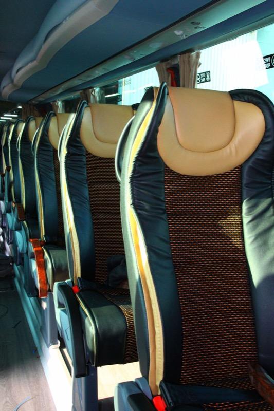 Aplicación de butaca Agile 4540 en autobús