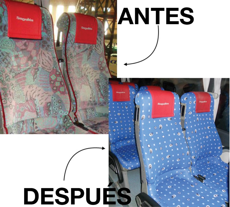 Antes y después de la funda Smart Cover aplicada a un bus
